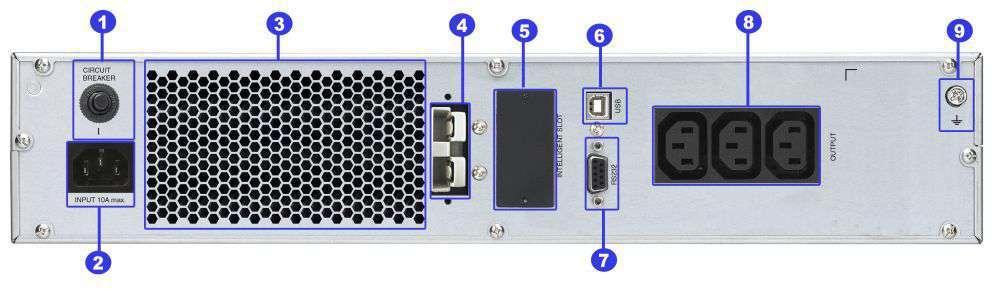 ☆ rackowy ☆ serwerowy ☆ online ☆ LCD ☆ 3x IEC C13 ☆ RS-232 ☆ USB ☆ slot SNMP ☆ złącze bateryjne ☆ ViewPower PL