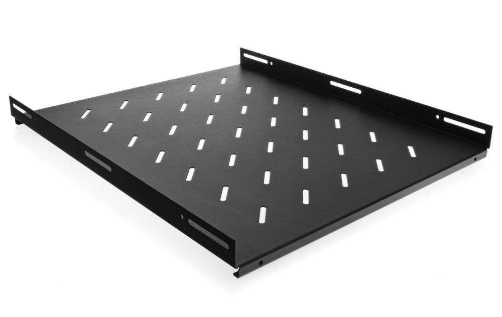 Stała półka głębokości 550mm PZ800 RACK SYSTEMS czarna RAL 9005