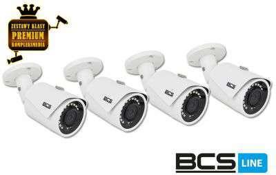 4x Kamera tubowa IP (2MPX) FullHD