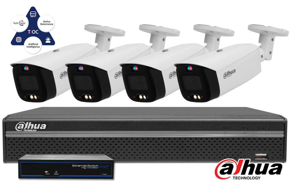 Zestaw do monitoringu IP ZMIP-DAH4KB80/IR40 (8MPX) DAHUA