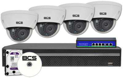Zestaw do monitoringu IP fhd ZMIP-BCS4KD80