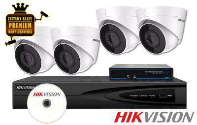 ZMIP-HIK4KD20/IR30 Zestaw do monitoringu IP (2MPX) HikVision