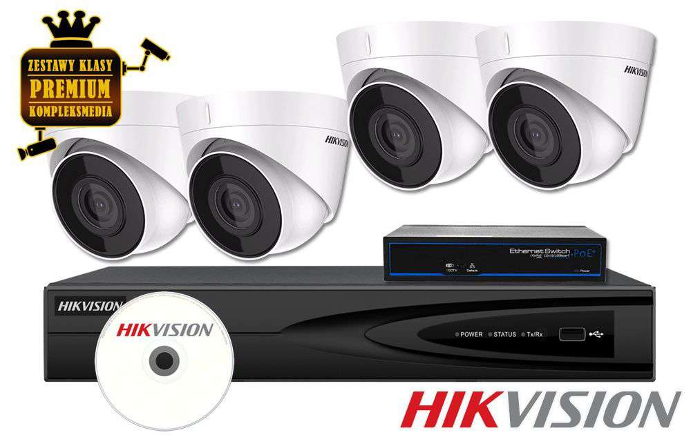 Zestaw do monitoringu IP ZMIP-HIK4KD20/IR30 (2MPX) HikVision