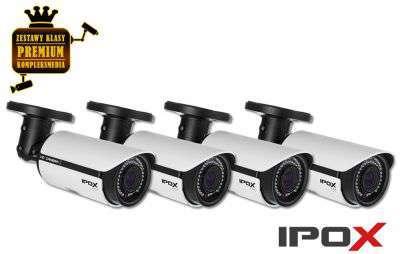 4x Kamera tubowa IP (2MPX) Full HD