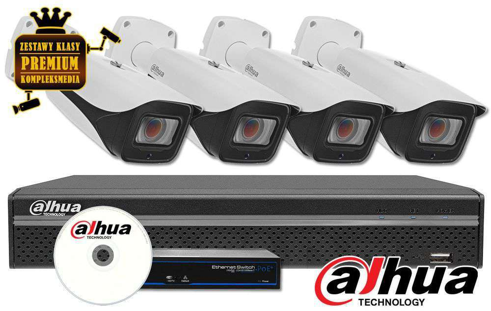 Zestaw do monitoringu IP ZMIP-DAH4KB80/MTZ (8MPX) DAHUA