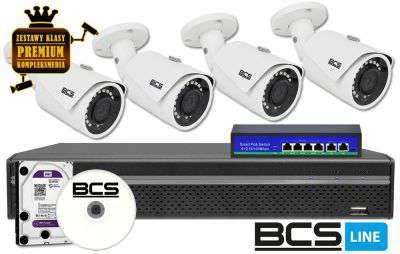 zestaw 4 kamer kanałowy monitoring ip zmip-bcs4kb40 bcs 4mp full hd