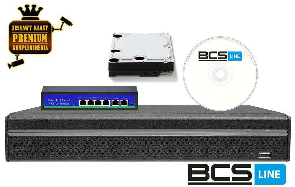 zestaw 4 kamerowy kanały do monitoringu ip zmip-bcs4kb40 bcs 4mpx fhd full hd