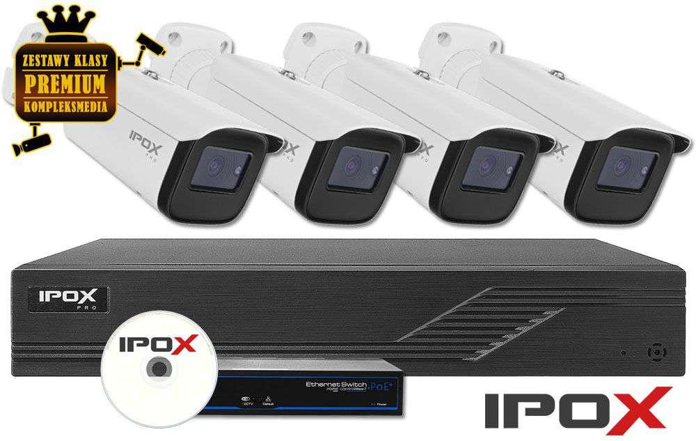 Zestaw do monitoringu IP ZMIP-IPO4KB20/MTZ (2MPX) IPOX