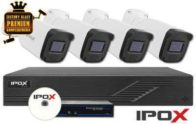 Zestaw do monitoringu IP ZMIP-IPOX4KB20/IR30 (2MPX) IPOX