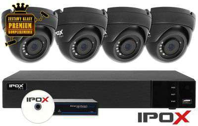 Zestaw do monitoringu IP ZMIP-IPO4KD20G (2MPX) IPOX