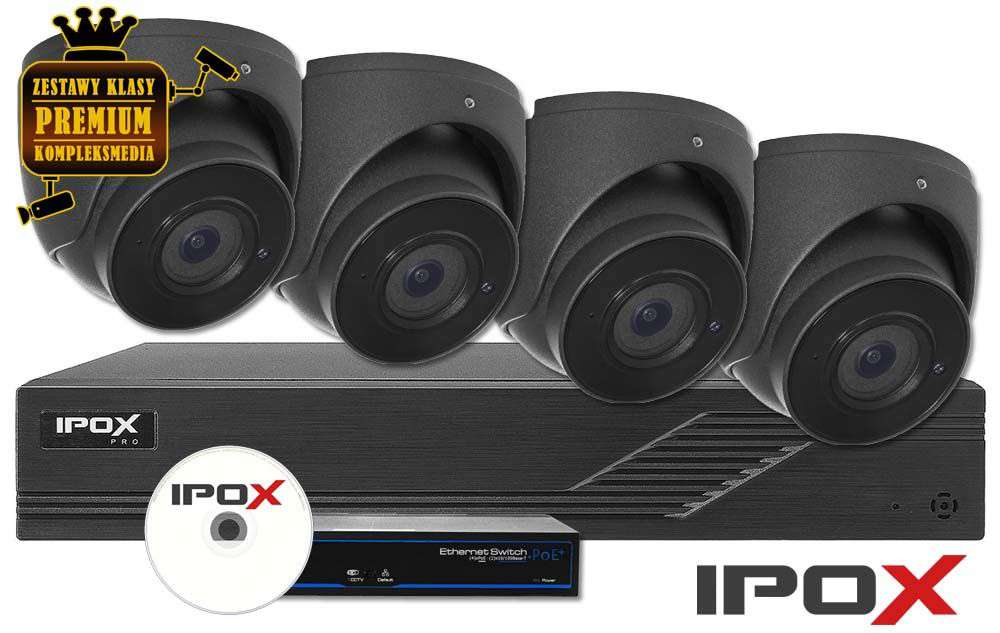 Zestaw do monitoringu IP ZMIP-IPO4KD20G/MIC (2MPX) IPOX