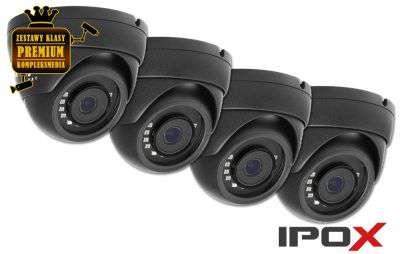 4x Kamera kopułowa DOME IP (5MPX) H.265