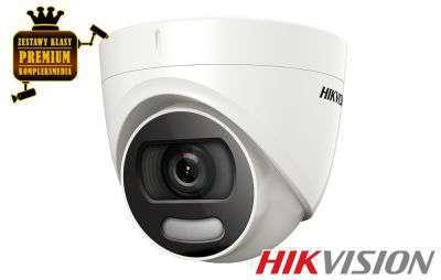 4x Kamera HD-TVI sufitowaColorVU (5MPX)