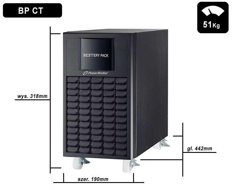 Battery Pack A192T-16x9Ah PowerWalker BP 10134026 wymiary i waga