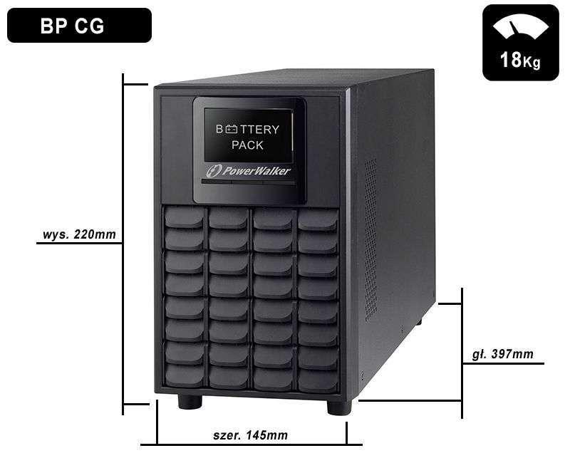 Battery Pack A36T-6x9Ah PowerWalker BP 10120546 wymiary i waga