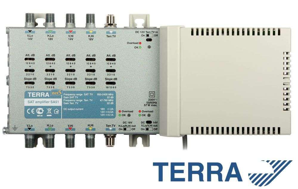 Wzmacniacz RTV-SAT Terra SA51