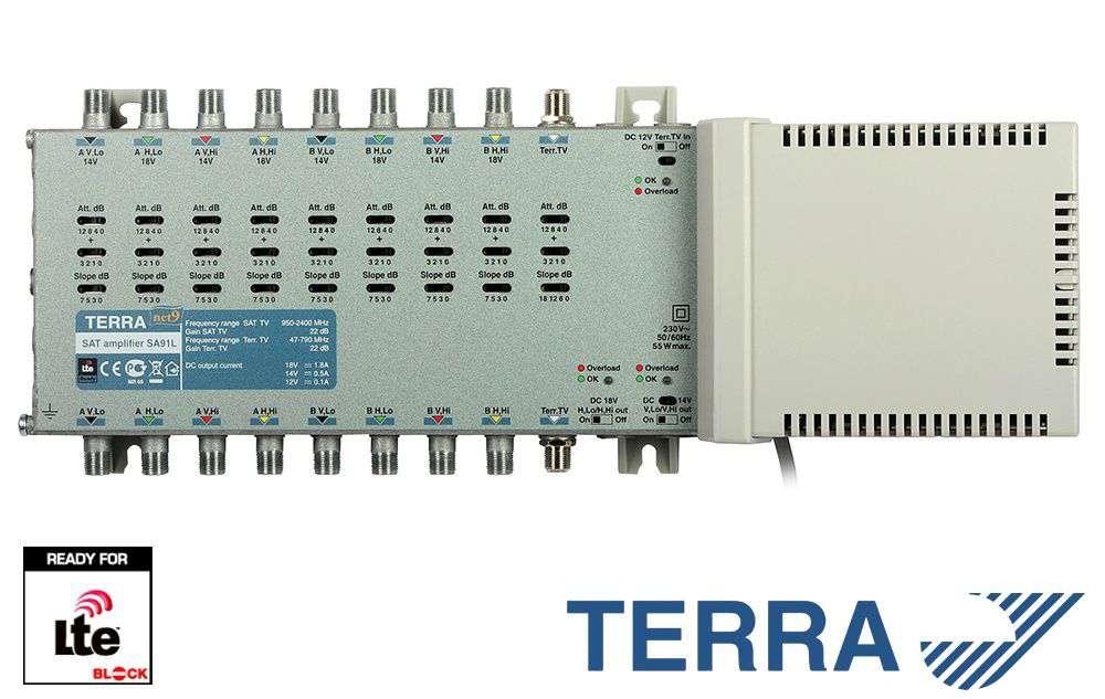 Wzmacniacz RTV-SAT Terra SA91L