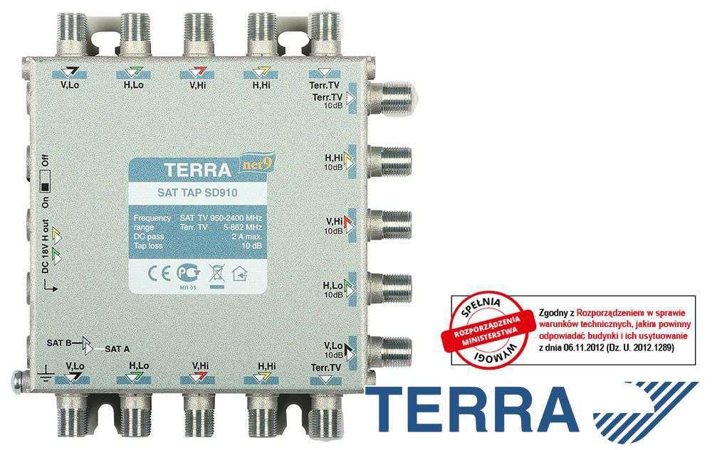 RTV-SAT tap SD910 Terra