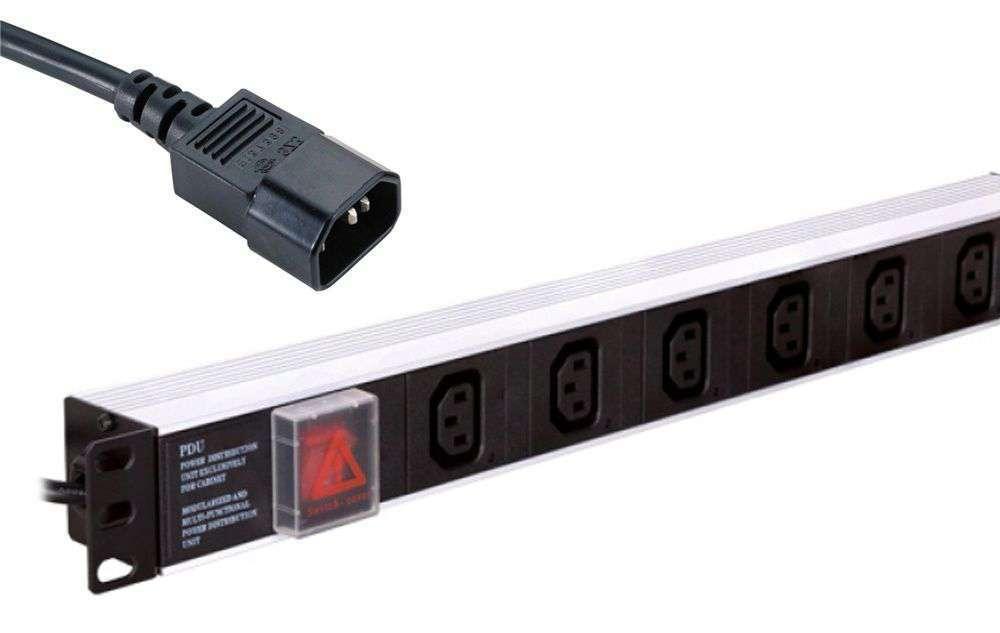 6-portowa pozioma listwa zasilająca CFU06-H1-H1U-B-1.5 LINKBASIC 2500W / 10A