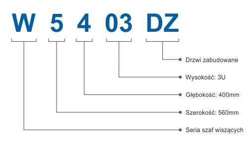 Szafa rackowa RACKSYSTEMS W5403DZ szklana czarna
