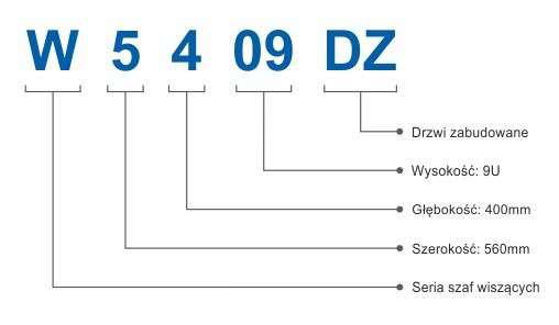 Szafa rackowa RACKSYSTEMS W5409DZ szklana czarna