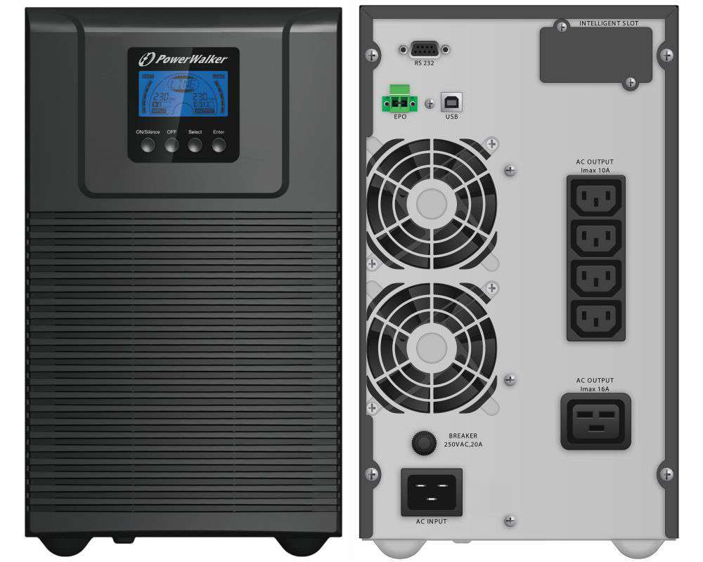 Zasilacz UPS online 3000VA/2700W VFI 3000 TG PowerWalker