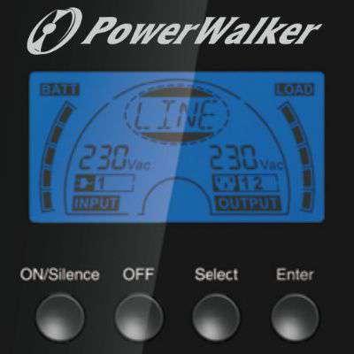 PowerWalker VFI 1000 TG wyświetlacz LCD