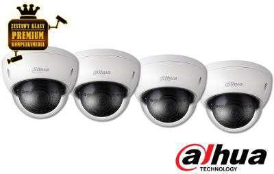 4x Kamera wandaloodporna IP (2MPX) FullHD