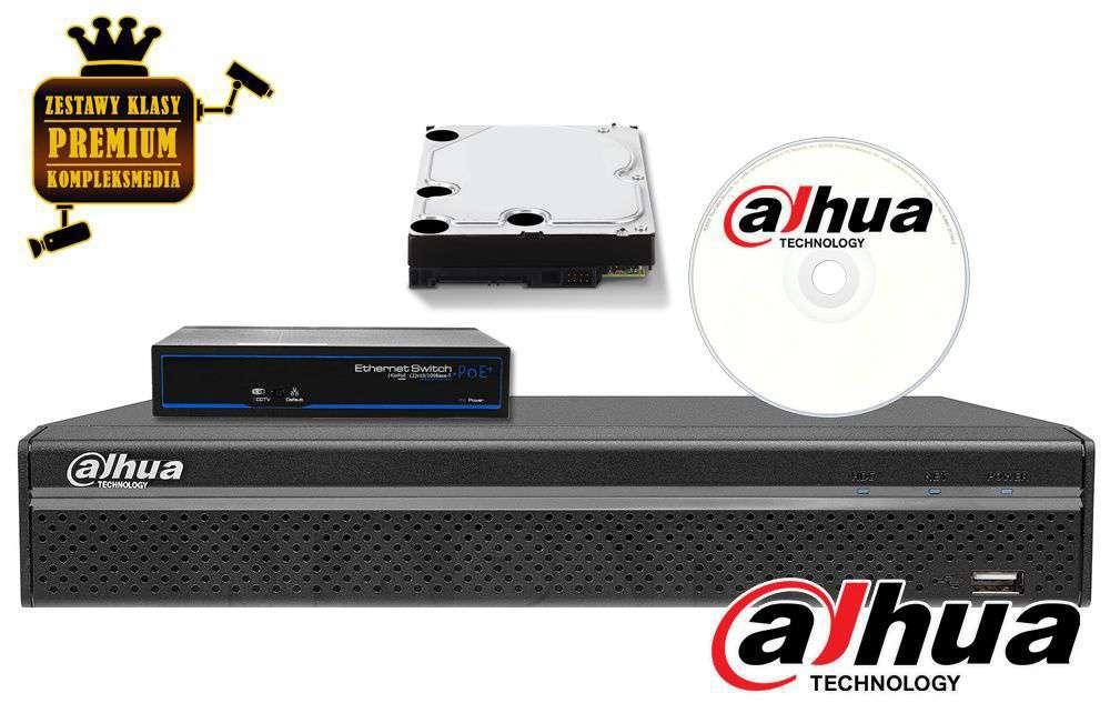 zestaw 4 kamerowy kanały do monitoringu ip zmip-hik4kd20 dahua 2mpx fhd full hd