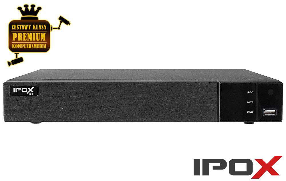 rejestrator 4 kanałowy ip px-nvr0481h ipox 8mpx