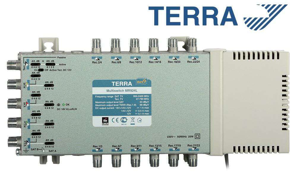 Multiprzełącznik Terra MR-924L