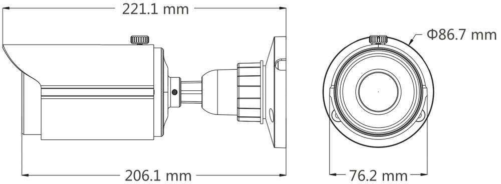 wymiary kamer ipox px-tvip2036sl-p