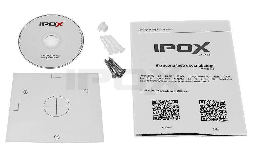 zawartość opakowania ipox pro px-tvip2036sl-p