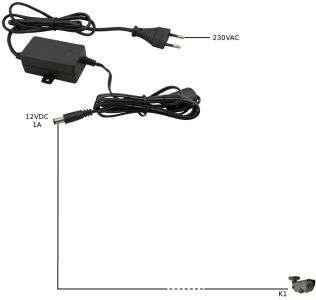 Zasilacz impulsowy Z1A/12V stabilizowany do kamer CCTV Eagle Power