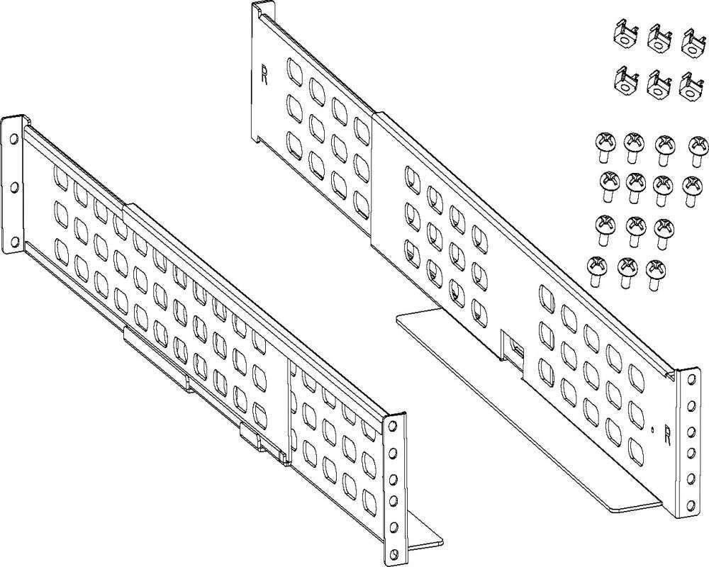 Zestaw szyn RK5 do szaf RACK 19 dla zasilaczy UPS PowerWalker 10132001