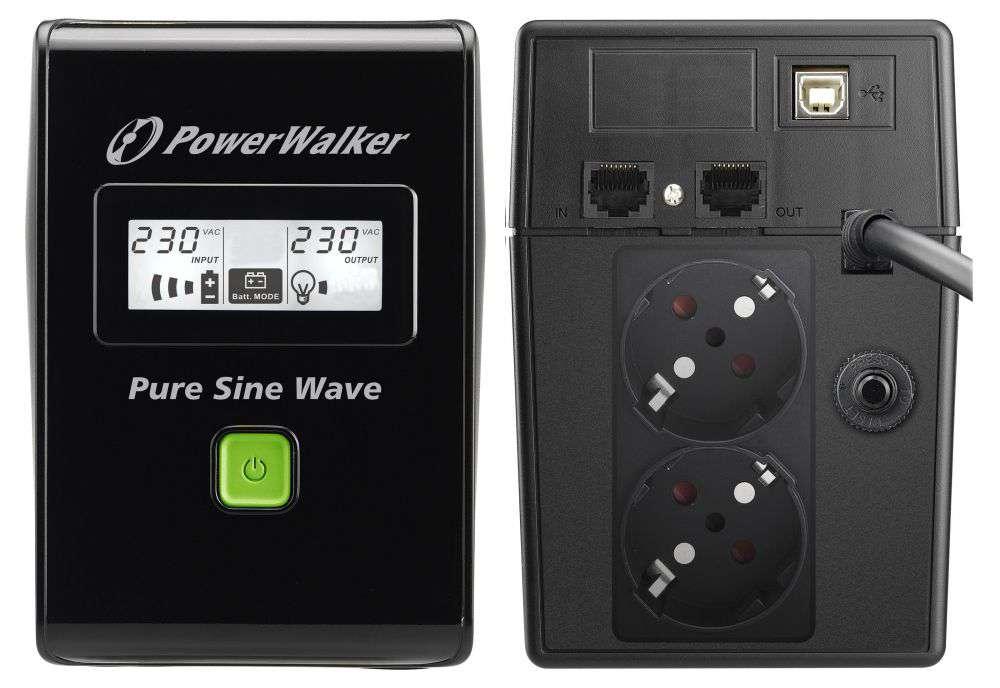Zasilacz UPS awaryjny 800VA/480W VI 800 SW PowerWalker