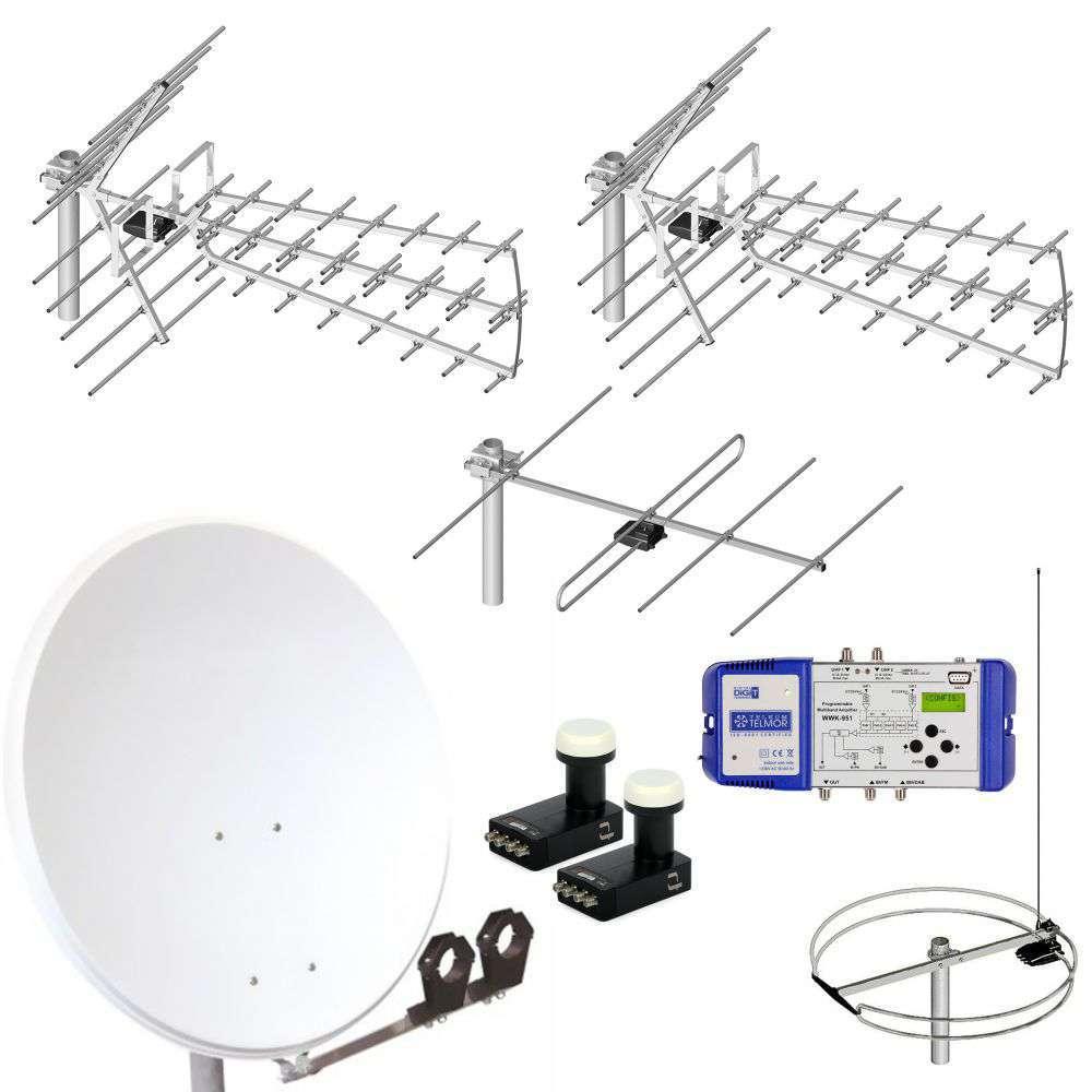 Zestaw antenowy do zbiorczej instalacji w budynku