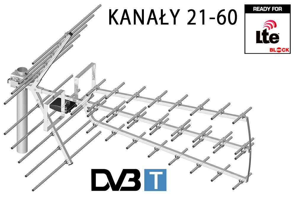 Antena telewizyjna Dipol 44/21-60 Tri Digit DVB-T UHF