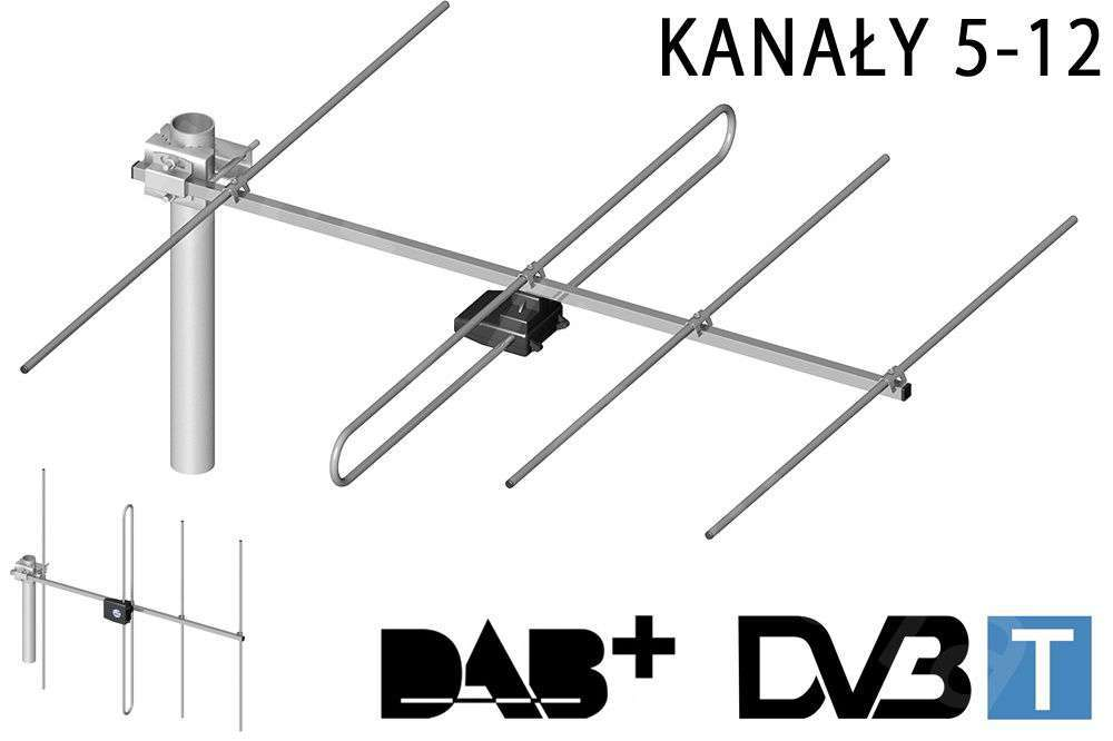 Antena telewizyjno-radiowa DIPOL-4/5-12