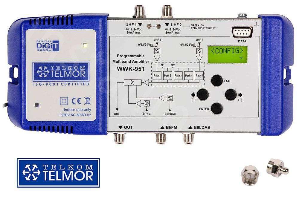 Wzmacniacz kanałowy Telkom-Telmor WK-951
