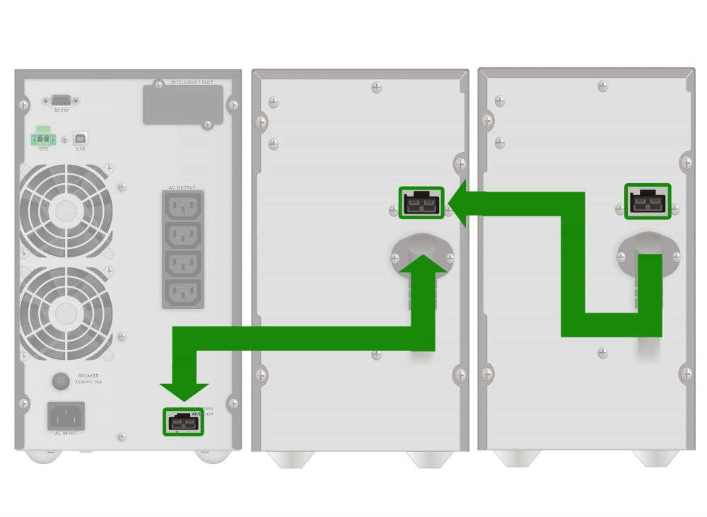 Battery Pack S72T-12x9Ah PowerWalker BP 10134033 schemat podłączenia