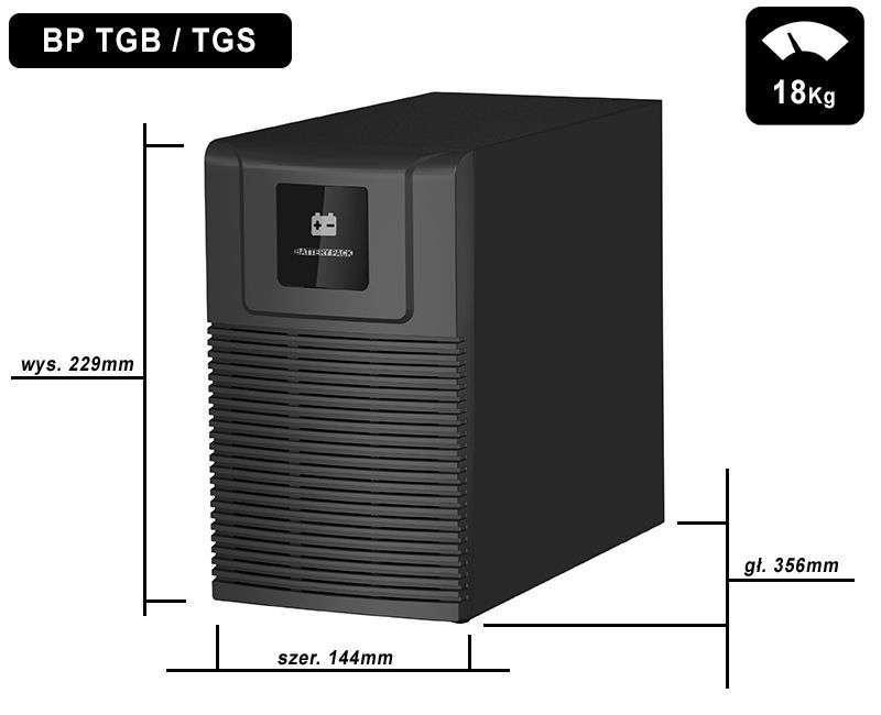 Battery Pack S24T-6x9Ah PowerWalker BP 10134031 wymiary i waga