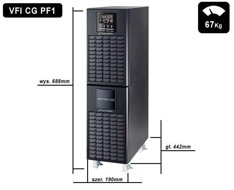 VFI 10000 CG PF1 PowerWalker wymiary i waga