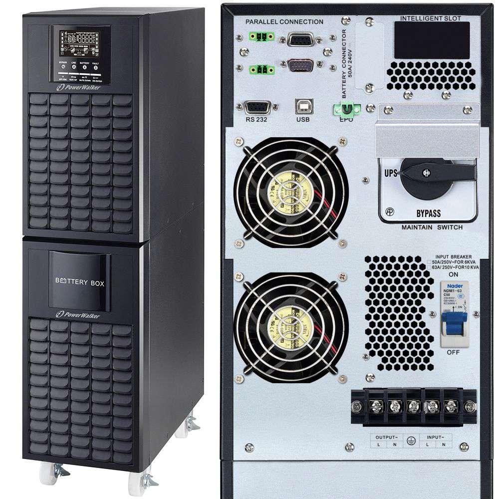 Zasilacz UPS online 6kVA/6kW VFI 6000 CG PF1 PowerWalker