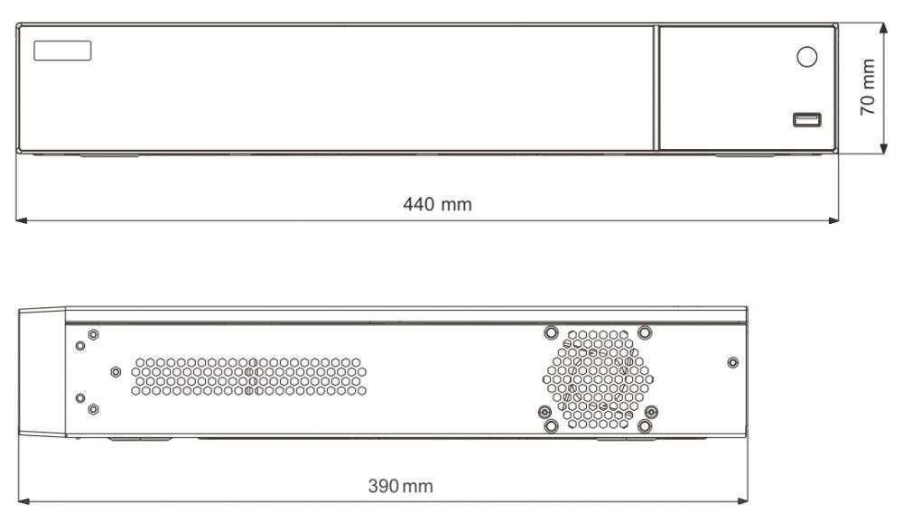 wymiary rejestratora px-hdr3224h-16a ipox