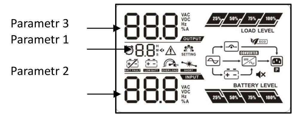 PowerWalker VFI 3000 CRS LCD wyświetlacz LCD