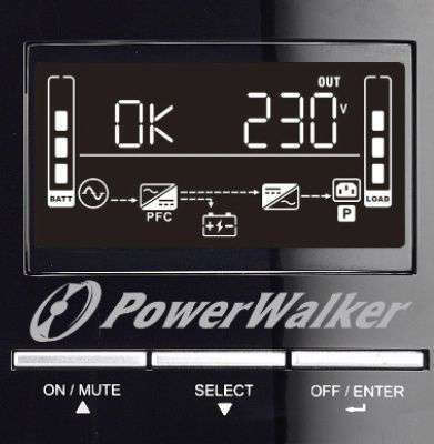 PowerWalker VFI 3000 CG PF1 wyświetlacz LCD