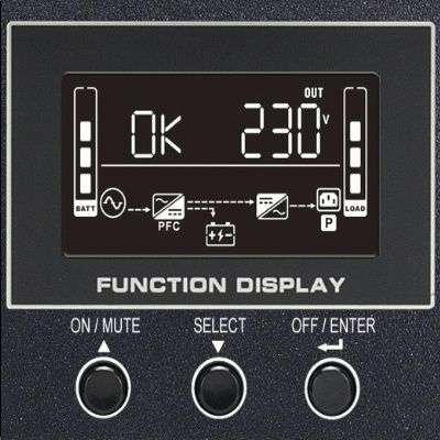 PowerWalker VFI 3000 RMG PF1 wyświetlacz LCD