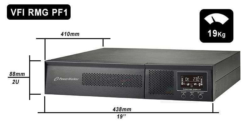VFI 1500 RMG PF1 PowerWalker wymiary i waga