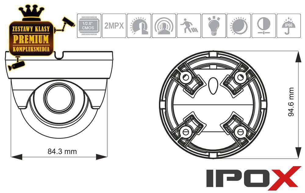 wymiary kamer ipox px-di2036-p/w